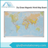 Framed Decoration Magnetic Dry Erase World Wall Map