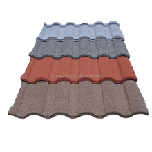 Wholesale shingle roof materials China factory price colorful stone coated metal tiles aluminum zinc roofing sheets in Indonesia