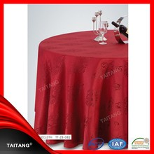 2018 Hot Sale polyester restaurant jacquard table cover coffee tablecloth