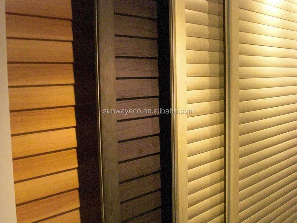 Wpc sliding door panel interior room divider buy wpc for Sliding panel doors room dividers