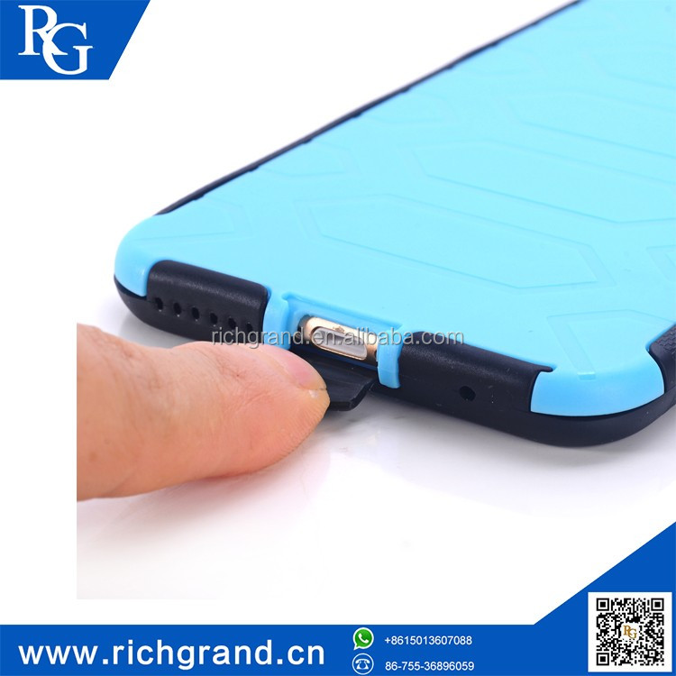 Top sale silicone+PC armor case with kickstand for iphone6 plus