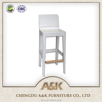 2016 Latest Bar Furniture Used Thailand Rubber Wood Chair Ash for Sale