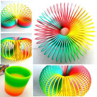 Hot Plastic Magic Rainbow Coil Spring Slinky Colorful Novelties Educational Toy