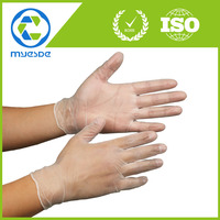 "9"" disposable PVC gloves for cell phone display"