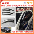 Hot Sale Two Color Black Door Visor For Fortuner Toyota Fortuner 2016 Window Door Visor Toyota Fortuner 2016