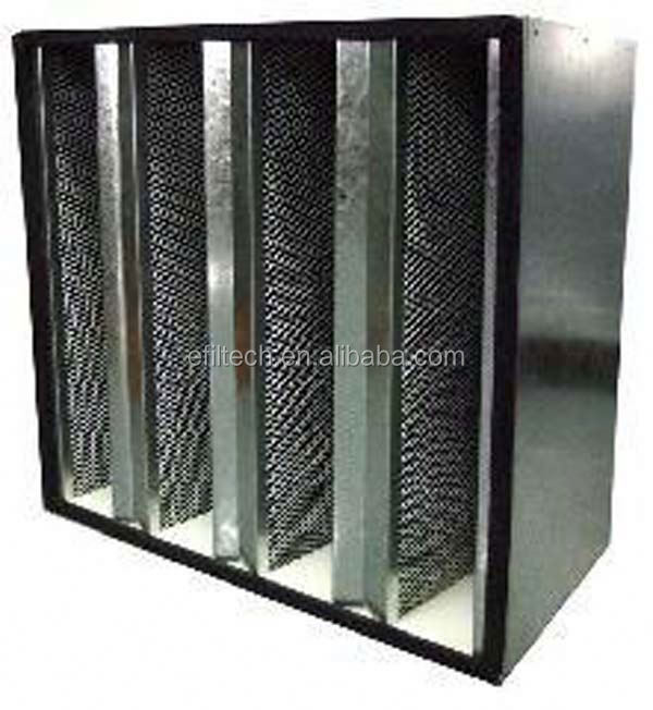 ULPA H11 H12 H14 U15 U16 U17 Cleanrooms Air Filter aluminum frame activated carbon foam air filter