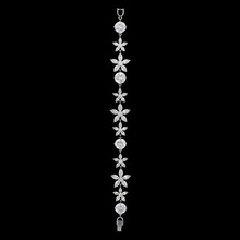 Wholesale Elegant Star shaped flower 925 sterling silver cz bracelet diamond bracelet hand harness zircon tennis bracelet