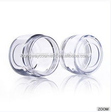 15g Plastic Screw Cap Canning Jar Mini Jar for Test Cream Container with Colorful Cap 3g 5g 10g 15g 20g