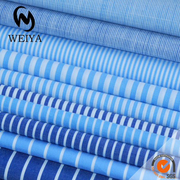Yarn dyed striped fabric for shirting