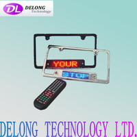 12V 7*23pixel single color USA led car license plate frame with remote control and brake function