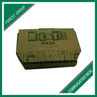 NEW BOX STYLE BROWN CORRUGATED PIZZA BOX WITH FULL COLOR PRINTING FOR KIDS