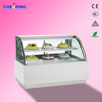 Front opening style cake display cabinet for sale ce approval cake cabinet display