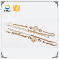 Wholesale custom fashion jean silver and gold long belt chain/ Indian girls women's sexy belly chaton jewelry waist chain