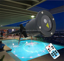 Free Shipping Waterproof 5in1 6W Red Green Garden Laser Lighting / Outdoor Laser Projector Christmas