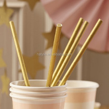 2015 Metallic Gold Paper Straws Party Tableware Wholesale SC117