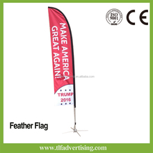 outdoor advertising polyester beach feather flag banner