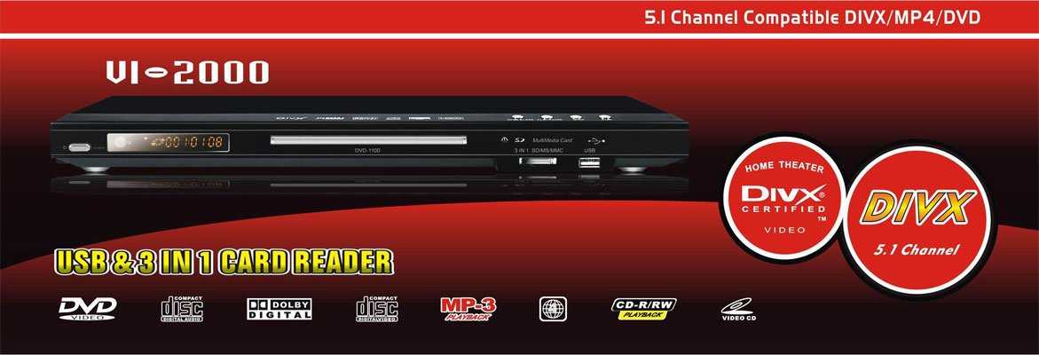 DVD Player + DivX + USB + Card Reader