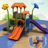 China outdoor commercial child educational wooden toy and plastic kids playground