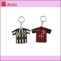 World cup football team clothes Soft PVC Keychains/Key ring