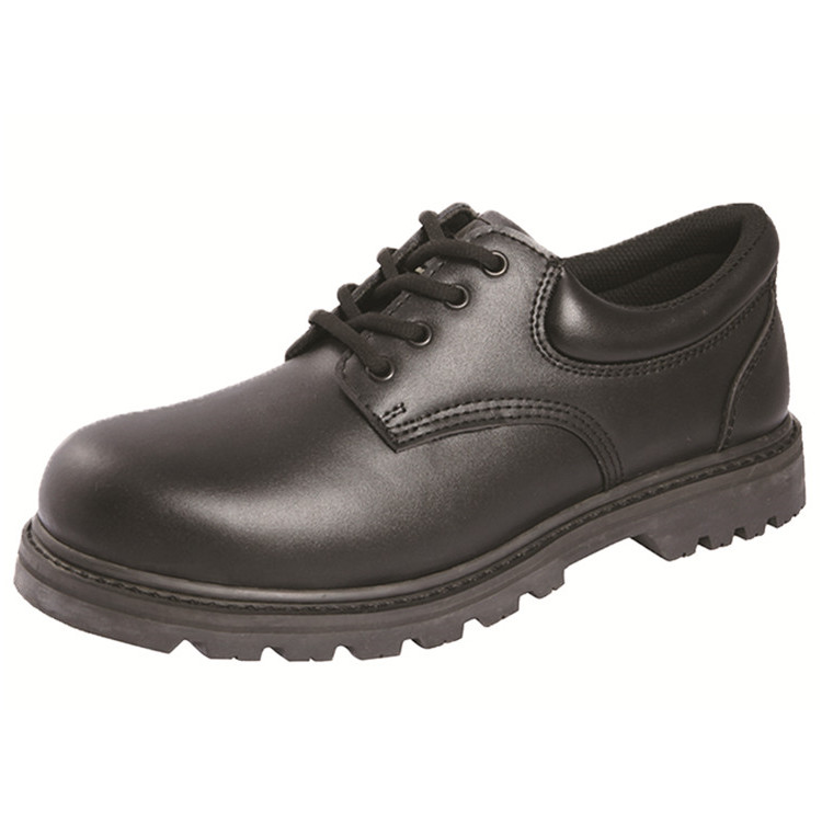 Steel Toe Office Shoes safe step smooth leather Goodyear Safety Shoes