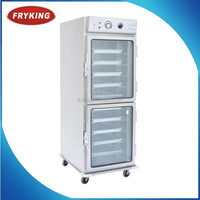 Mobile 10 pans hot food cart warmer cabinet