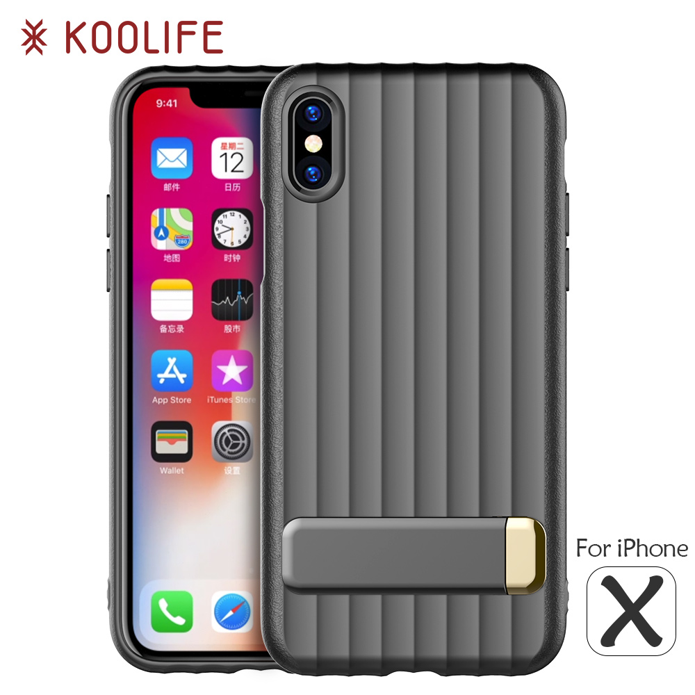 New design rubber bumper phone case metal kickstand phone case cover for iPhone X case