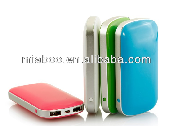 OEM Portable dual USB power bank, high quality durable lithium power bank 4400, can brand your logo