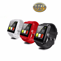 YX8202 China Stock 3Colors Silicone Cheap Bluetooth 3.0 U8 Smart Watch Paypal