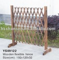 wooden flexible fence
