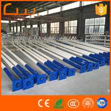 Factory price OEM Q235 steel stadium light poles