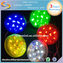 12LEDs 60mm Programmable single Color Amusement Rides Led Light With decorative Ring
