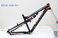 "26"" MTB 6061 bicycle frame alloy full suspension frame"