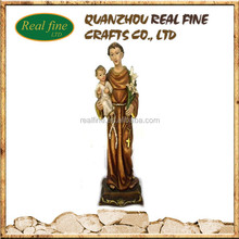 china wholesale polyresin religious statue St Anthony and Bady statue