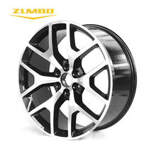 "Zumbo F6683 24X10 inch BLACK MACHINED FACE 24"" 24 inch alloy wheels cheap deals black price aluminum rims"