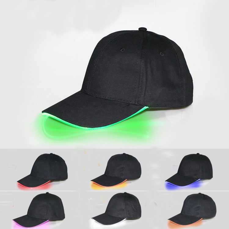 China Factory Hot Sale Christmas Led Baseball Caps Hats With Led Lights
