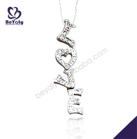 china supplier wholesale silver jewelry moon shaped necklace