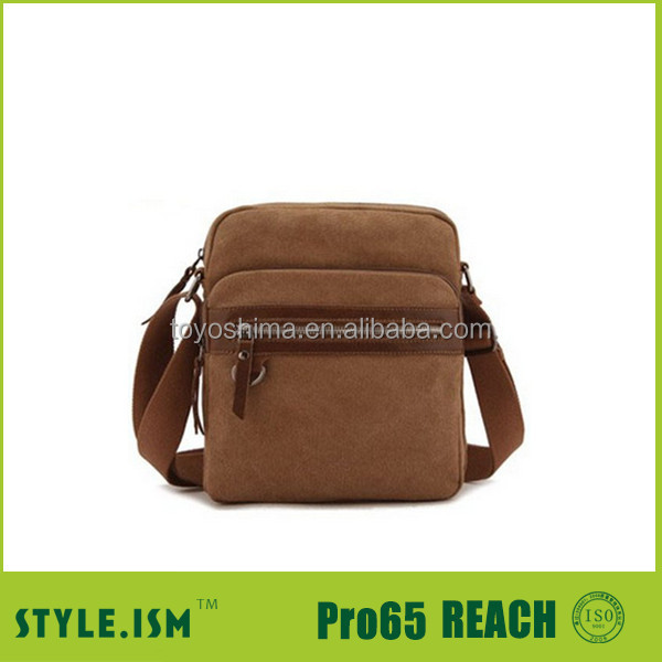 Hiway china supplier Leather Canvas Bags For Men
