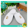 Coral Velvet Hotel Slippers / Custom Eco-friendly EVA Indoor Slippers / Cheap Washable Fabric Travel Guest Room Slippers