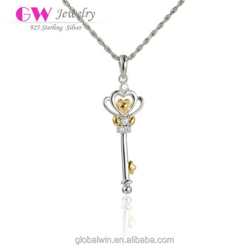 Fashion Jewelry Key To My Heart Pendant For Lady Engagement Party