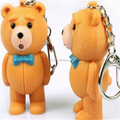 Custom pvc bear 3D model keychain, 3d pvc keychain,3d custom shaped keychain