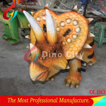 Professional Cartoon Dinosaur Toy Car for Kids Park Rides