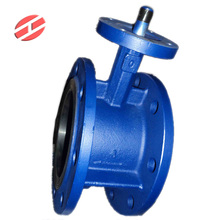 Manual double flanged butterfly valve for water oil gas