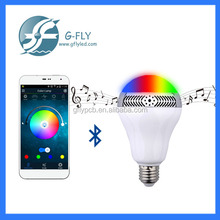 AC 100-240V bluetooth led light bulb speaker