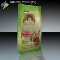 dog food packing flat bottom plastic bags with custom logo printing