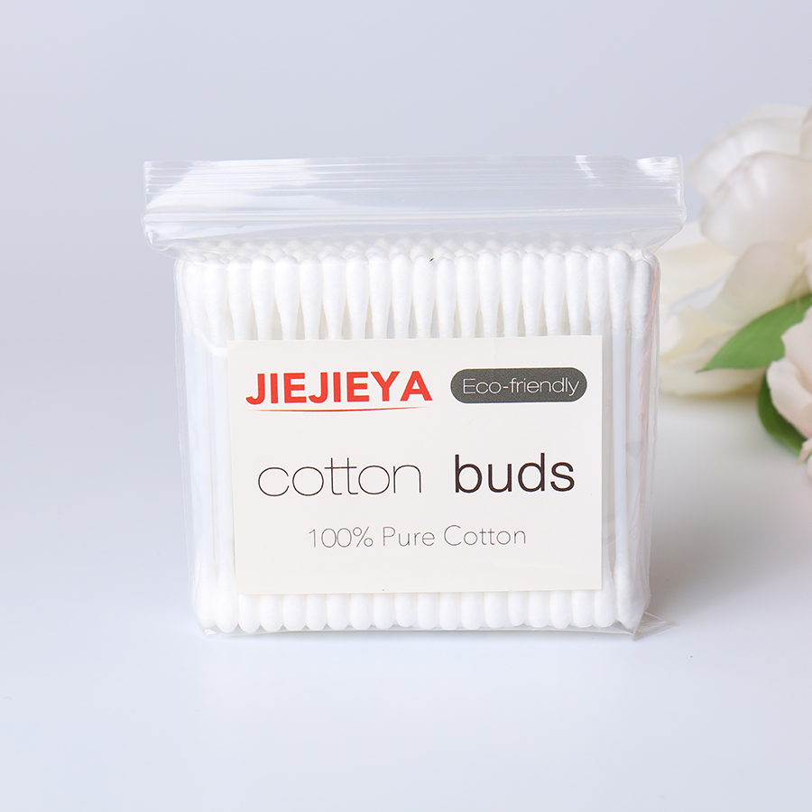 Plastic Q tip dispenser cotton buds