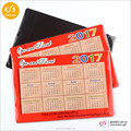 New products magnetic calendar 2017 guangzhou fridge magnets custom