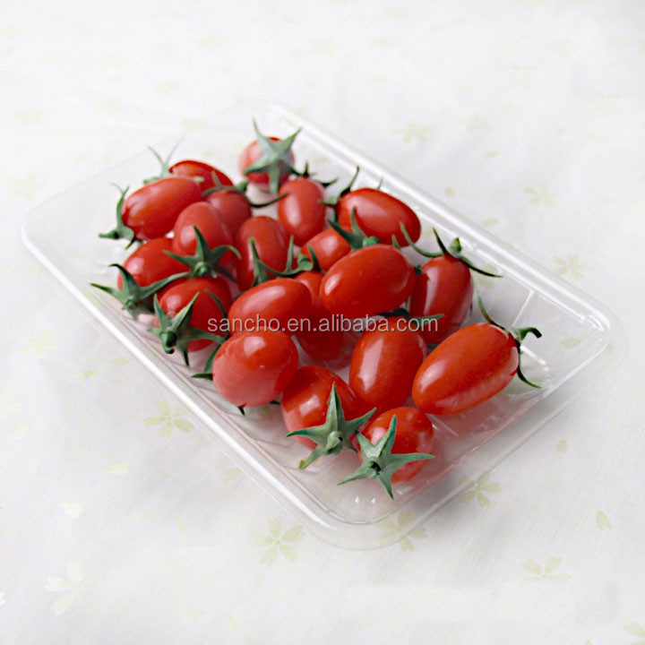 Disposable plastic blister apple fruit tray packaging