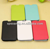 colorful flip leather case for Samsung Galaxy S4 ,shell leather case for S4