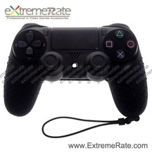 Video Game Accessory For PS4 Controller Black With Wrist Strap