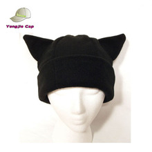 BLACK CAT EAR WINTER HAT FLEECE SKI SNOWBOARD ANIME COSPLAY BEANIE hat